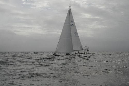 Den här bilden är tagen av Tir Na Noir den första dagen, medan vinden fortfarande var tämligen beskedlig