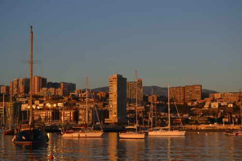 Las Palmas i morgonsol