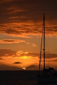 Solnedgång i Rodney Bay