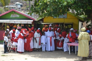 Baptistmöte på Union Island