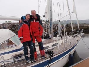 Oerhört lyckliga över att vara framme i Inverness efter en jobbig segling