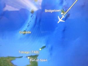 Högt över Barbados...