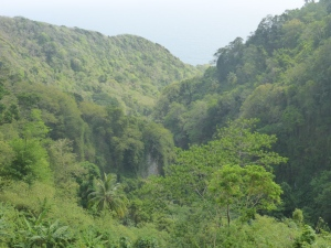 Början på Waitukubuli Trail